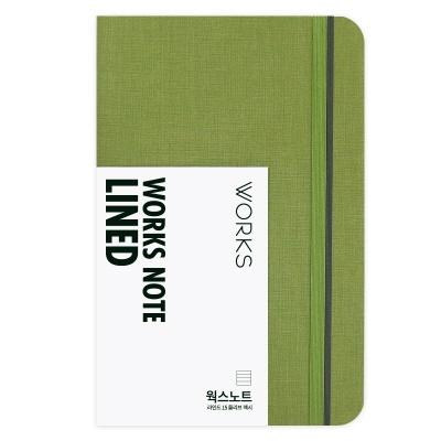 [무료 이니셜각인]웍스 노트 라인드 15 올리브 맥시