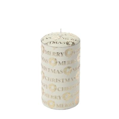[페르니시] 메리크리스마스 데코 캔들 -화이트(15cm)