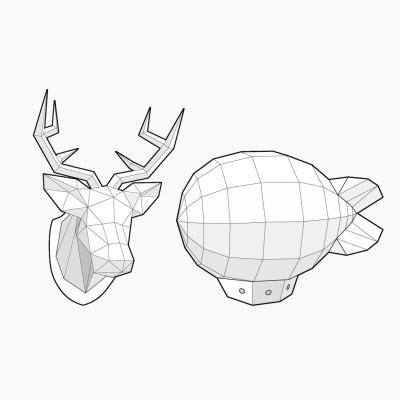 [톰텐]날아라비행선 and 사슴머리장식 SET