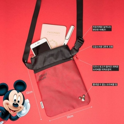 DISNEY정품 미키마우스 미니마우스 여행용 여권수납 W038D08
