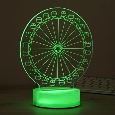 3D LED LIGHT 관람차 3D LED 무드등 조명