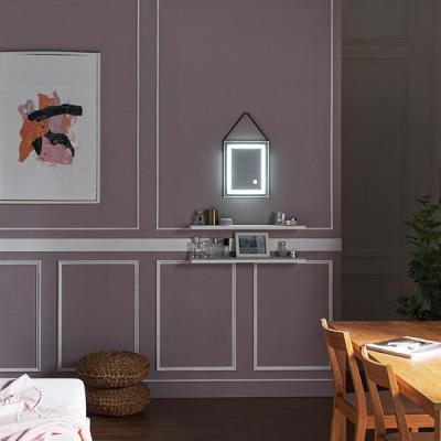 [Ldlab] 시크릿 LED 터치 사각 스트랩 벽걸이 거울