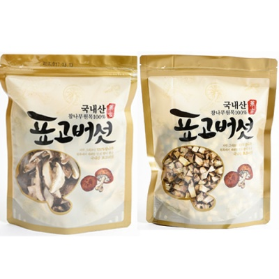 표고버섯 슬라이스 80gx2봉+깍둑썰기 100gx2봉