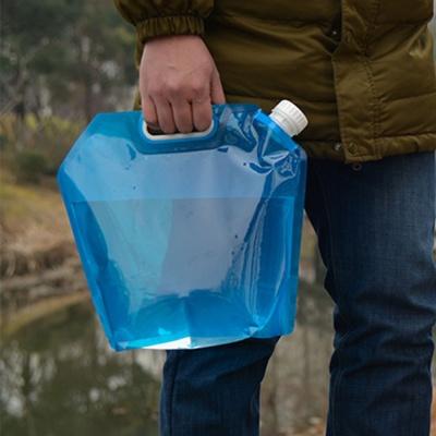 워터백 캠핑 접이식 물통(블루) (10L)