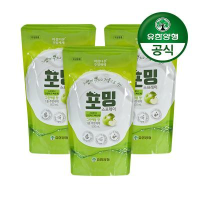 [유한양행]주방세제 포밍 스프레이 리필 500ml 3개