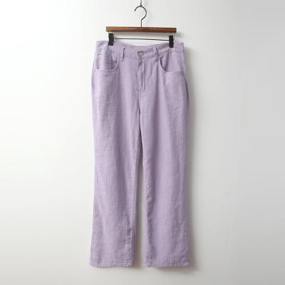 Linen Pastel Straight Pants