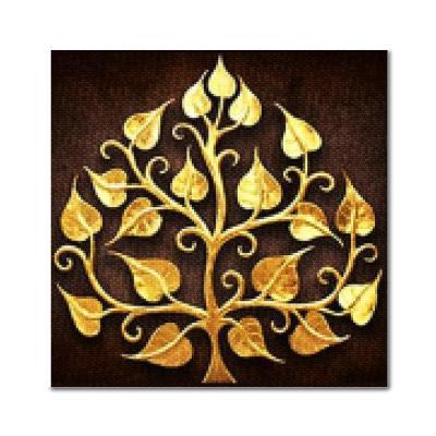 DIY 보석십자수 - 황금잎사귀 BE21 (25X25)