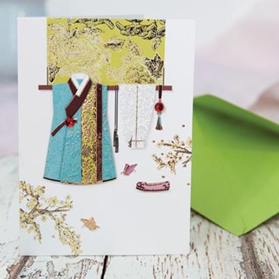 카드/축하카드/감사카드/연하장 도련님 한복 카드 FT1035-6