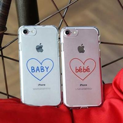 JN 디자인 투명젤리 케이스 베베 bebe baby 커플