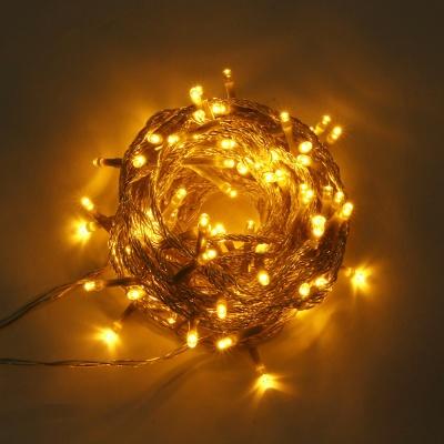 [은하수] 100구 투명선 LED 웜색 지니전구(10M) (점멸