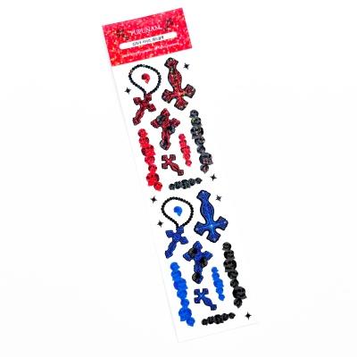 푸푸남 십자가 시리즈 레드블루 씰스티커
