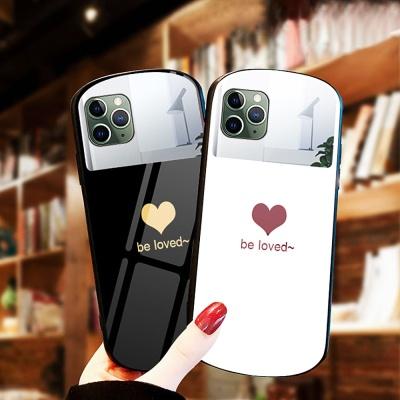 아이폰11 pro max 하트 미러 글라스 핸드폰 케이스