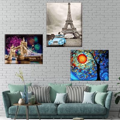 명화 그림그리기 세트 캔버스 풍경 40x50cm