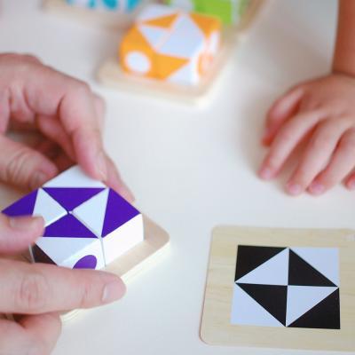 큐비츠 주니어 퍼즐 보드게임 (1-4인, 3세이상, 유아)