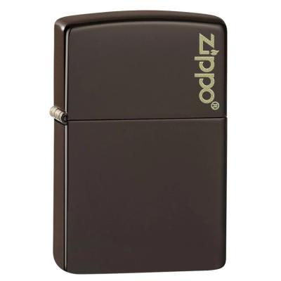 ZIPPO 49180ZL Classic Brown Zippo Logo