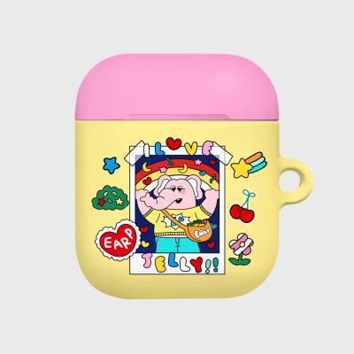 kkikki love jelly-yellow/pink(Hard air pods)