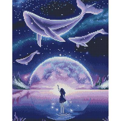 꿈꾸는 고래 (캔버스형) 보석십자수 40x50