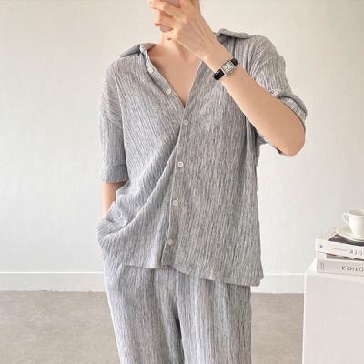 Pleats Knit Shirts
