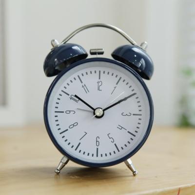 모던디자인 트윈벨 알람탁상시계(다크블루)