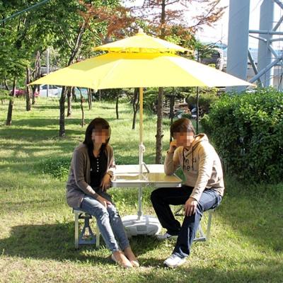 휴대용 테이블 4인 세트 야외테이블 접이식테이블