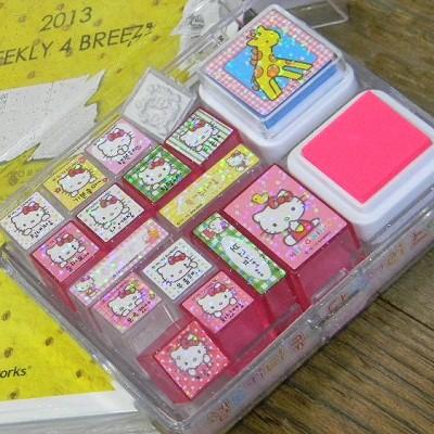 [Hello Kitty] 헬로키티 Cute 다이어리 스템프 선물용 16종 세트 A554-1