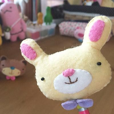 [diy] cute pencil topper-rabbit
