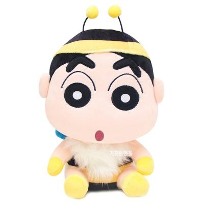정품 짱구는못말려 꿀벌 코스튬 싯팅 봉제인형 25cm
