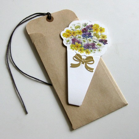 한아름 꽃다발 - 북마크 택카드