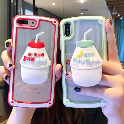 아이폰 바나나 딸기 우유 캐릭터 커플 스마트톡케이스