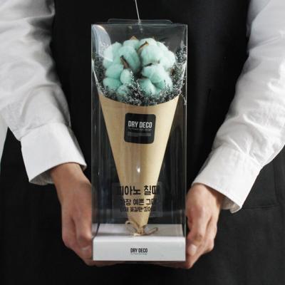 드라이플라워 미디엄 목화꽃다발/졸업식꽃다발