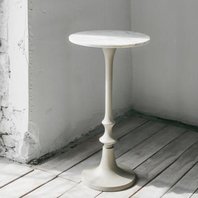 대리석 원형 커피테이블(아이보리)