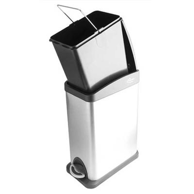 Modern 스텐 사각 페달 휴지통 8L 바스켓분리 가능