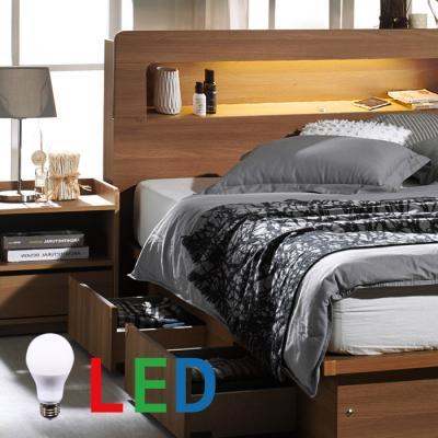 [랜선할인]서랍형 LED조명 침대 퀸(본넬매트) DW105