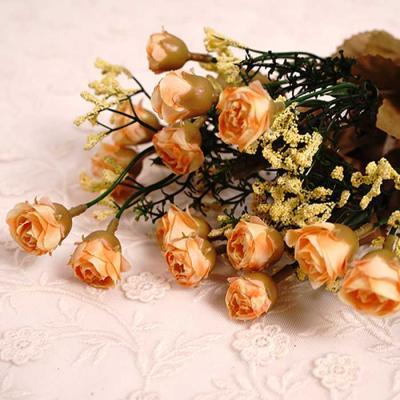 Flower 7송이 mini ROSE 부쉬 4color 38x15cm