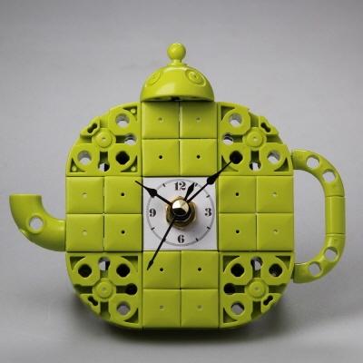 주전자1 블럭시계 (170291) 블럭레고형시계