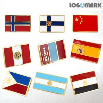 국기뺏지 7(페루,필리핀,몽골,노르웨이,핀란드,아르헨티나,중국,스페인,이집트)