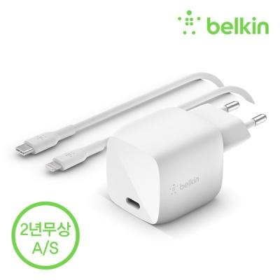 벨킨 30W USB-C GaN 고속 충전기 + 케이블 WCH001kr1M
