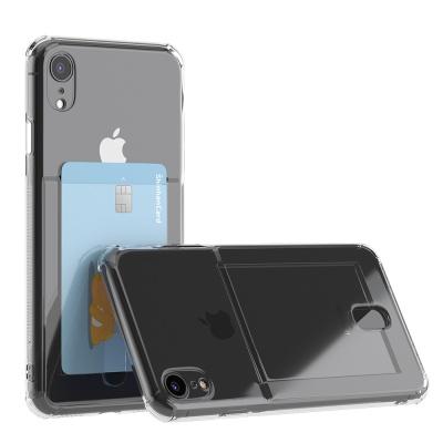 아이폰 xr 아이스핏 에드온 TPU 투명 카드 케이스