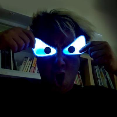 야광 눈장식 스티커 세트 (화난눈)