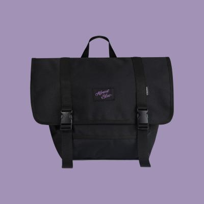 [얼모스트블루] SIGNATURE LOGO MESSENGER BAG