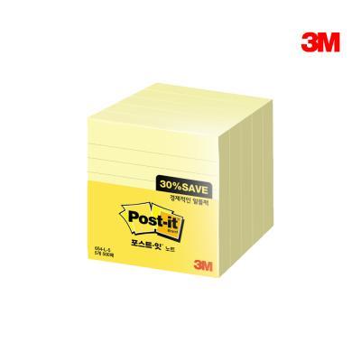 3M 포스트잇 654-L-5A (라인) 대용량팩
