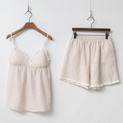 세라 민소매 여름홈웨어 순면 파자마잠옷