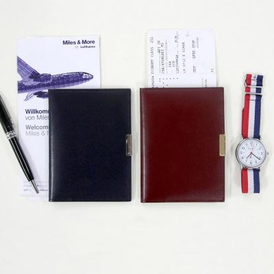 [천연소가죽] OROM 여권케이스 메탈포인트 2 Color