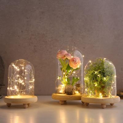 LED 무드 원목 유리돔 글라스돔 (소)