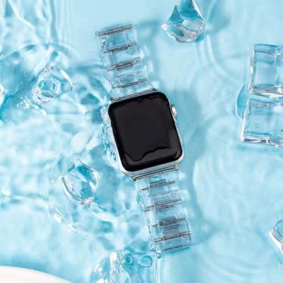 애플워치5 4 3 2 1세대 투명 컬러 스트랩 밴드 시계줄