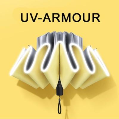 UV Armour 3단자동 거꾸로우산 UPF50 자외선차단