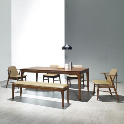 퍼피노 샘 원목 6인식탁+벤치+의자 세트cc030-1
