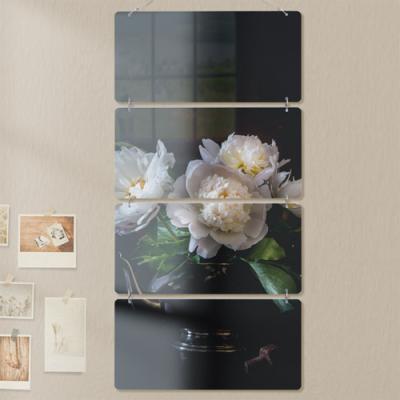 nl205-멀티아크릴액자_신비로운모란꽃(4단)
