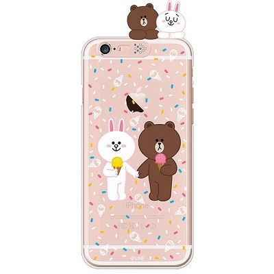 [SG DESIGN]iPhone6/ iPhone6 Plus 라인프렌즈 ICE CREAM LIGHT UP Case-Rose Gold(하드타입/라이팅)