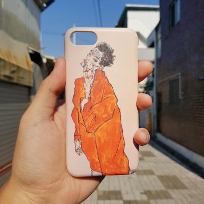 에곤쉴레 오렌지 자켓 자화상 하드케이스